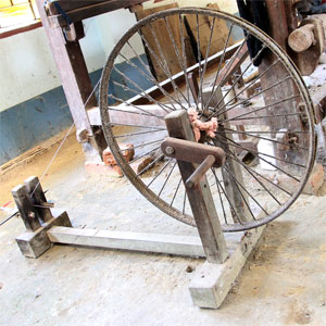 Chhandabrati Weavers spinning wheel